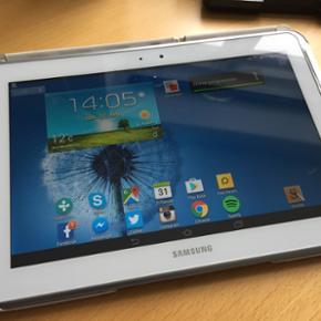 """Samsung Galaxy Note 10.1, N8010, 10"""" 16G - Aalborg  - Samsung Galaxy Note 10.1, N8010, 10"""" 16GB harddrive og 4G net Velfungerende tablet, perfekt til at tage noter, læse e-bøger mv. I hvid Der er tale om en fin tablet med en rigtig flot skærm. Tablet'en er købt 04.06.2013, nypris 4500'ish. Cov - Aalborg"""