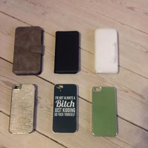 IPhone 5 og 6 covers! Billede 2 - iPhone - København - IPhone 5 og 6 covers! Billede 2 - iPhone 6/6s cover i brunt ruskind-lignende stof. Inden i er der 2 udskæringer til kort med et ekstra rum bag kortene og sort plastikholder til mobilen. ALDRIG BRUGT. Billede 3 - sort iPhone 5 cover. Sort hel - København