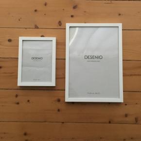 Desenio rammer - hvid - str. 13 x 18(1st - Aalborg  - Desenio rammer - hvid - str. 13 x 18(1stk) & str. 21 x 30 cm. (1stk) - aldrig brugt, dog pakket ud - fra dyre- & røgfrit hjem - Aalborg
