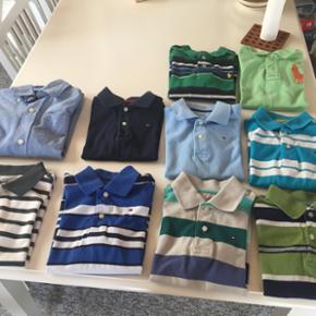 Poloer og en skjorte. Fra Ralph Lauren,  - Hillerød - Poloer og en skjorte. Fra Ralph Lauren, Tommy Hilfiger og Gap Kids. Str 4-5 år. Den lysegrønne polo er solgt. Den mørkegrønne er langærmet. Alle i rigtig pæn stand. Pris er pr stk. Rabat kan gives ved flere. Opdatering: skjorte, lyseblå - Hillerød