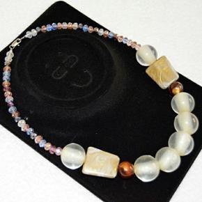 Hand made bead necklace - Esbjerg - Hand made bead necklace - Esbjerg