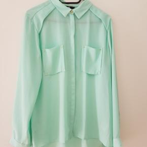 Mintgrøn skjorte. Brugt få gange. H&m - Århus - Mintgrøn skjorte. Brugt få gange. H&m - Århus