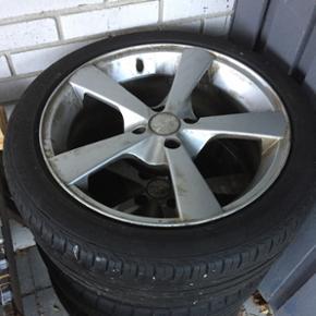 """17"""" 215/45 bridgestone dæk Er dæk nok  - Holstebro - 17"""" 215/45 bridgestone dæk Er dæk nok til 1-2 sæsoner. Det er 75 mm mellem boltene. - Holstebro"""