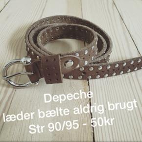 Depeche bælte læder - Århus - Depeche bælte læder - Århus