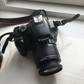 """Canon Eos 1100D sælges. Original boks h - Næstved - Canon Eos 1100D sælges. Original boks haves. Har en lille """"ridse"""" af en art (kan ses på sidste billede) men ellers i god stand, det er dog brugt selvfølgelig. Sælges da jeg spare sammen til et andet kamera og mangler penge til en jordomrejs - Næstved"""