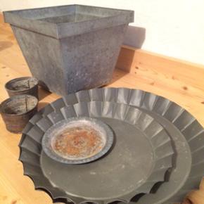 Zink fade og potter alt på billedet afh - København - Zink fade og potter alt på billedet afhent Frederiksberg gratis - København