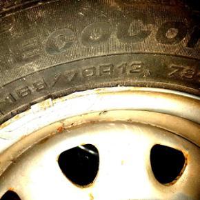 165/70R 13 dæk på stålfælge - Thisted - 165/70R 13 dæk på stålfælge - Thisted