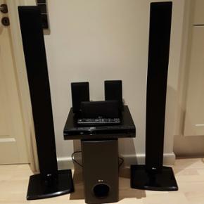 LG surround anlæg - fungerer perfekt. 5 - Hillerød - LG surround anlæg - fungerer perfekt. 5.1 højttalersæt. DVD/CD/AUX/FM samlet i ét. - Hillerød