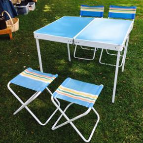 Retro campingbord. Kan pakkes sammen så - Silkeborg - Retro campingbord. Kan pakkes sammen så det ikke fylder mere end en kuffertstørrelse - Silkeborg