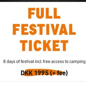 Roskilde festival billet, med indgang ti - København - Roskilde festival billet, med indgang til syd - København
