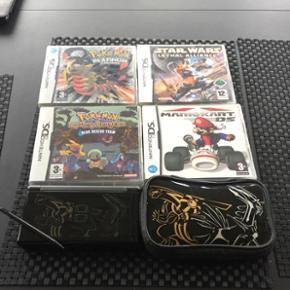 Sælger en brugt Nintendo DS med 4 spil, - Sønderborg - Sælger en brugt Nintendo DS med 4 spil, 1 touchpind og et hylster som kan indeholde en Nintendo DS og op til 3 spil. - Sønderborg