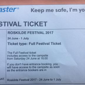 Sælger denne 7-dags Roskilde Festival b - Roskilde - Sælger denne 7-dags Roskilde Festival billet! Skriv hvis interesse :) - Roskilde