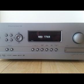 NAD! T765, 7.1 kanaler, 140 W, perfekt H - København - NAD! T765, 7.1 kanaler, 140 W, perfekt Hvis du skal bruge en kraftig surroundreciever kan du ikke gå udenom denne model. Den har også audyssey - København