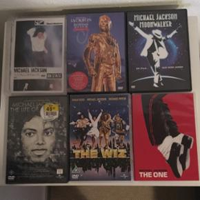 Michael Jackson DVD'er - ON STAGE - Hist - Holstebro - Michael Jackson DVD'er - ON STAGE - History on film - Moonwalker - The One - The Wiz - The life of an icon. DVD'erne sælges samlet eller separat. 15-20kr pr styk - Holstebro