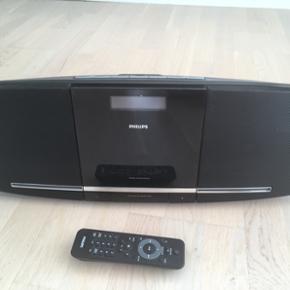 Philips anlæg med CD afspiller. Til væ - Aalborg  - Philips anlæg med CD afspiller. Til væg montering men kan også bare stå. Med fjernbetjening. Fungerer perfekt! - Aalborg