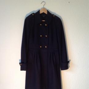 Frakke fra Tommy Hilfiger i mørkeblå u - Århus - Frakke fra Tommy Hilfiger i mørkeblå uld. - Århus