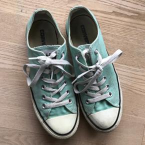 Mint grønne Converse str 5,5 Brugt få  - Herning - Mint grønne Converse str 5,5 Brugt få gange - Herning