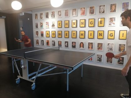Let's ping-pong it out