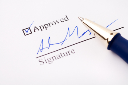Approved and signed document