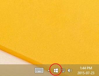 Windows10 Upgrade System Tray