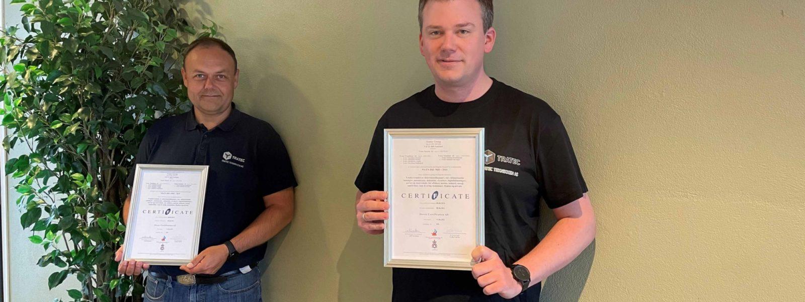 Vi har nå blitt en ISO sertifisert bedrift!