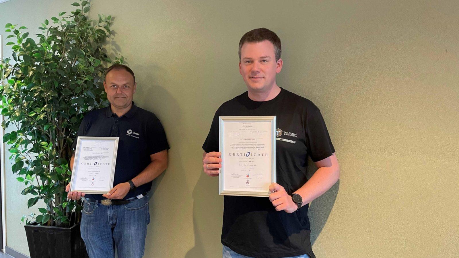 Vi har blitt en ISO sertifisert bedrift!