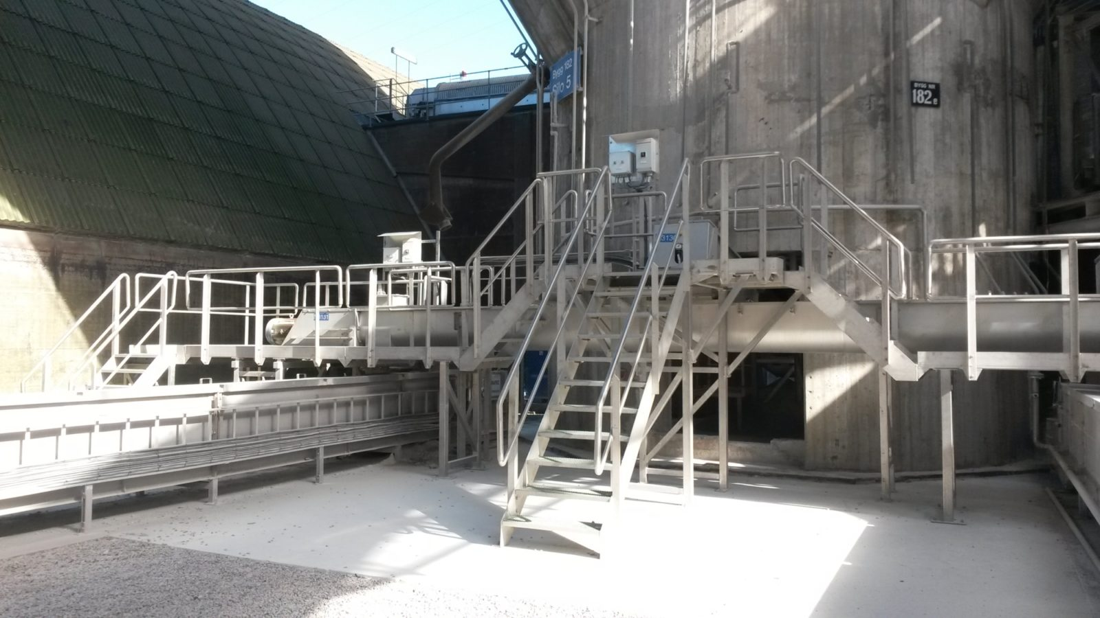 Transport system for phosphate at Yara Norway Porsgrunn