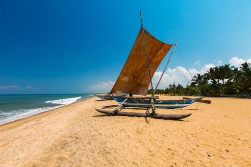 Traditional boat in Sri Lanka