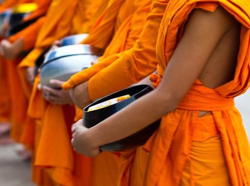 Alms giving in Luang Prabang, Laos
