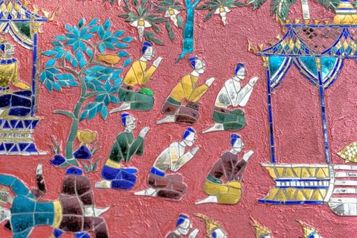 Glass mosaics of Wat Xieng Thong