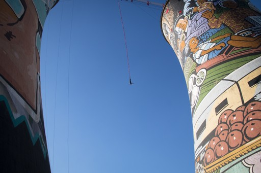 Bungee jumping at Orlando Towers, South Africa