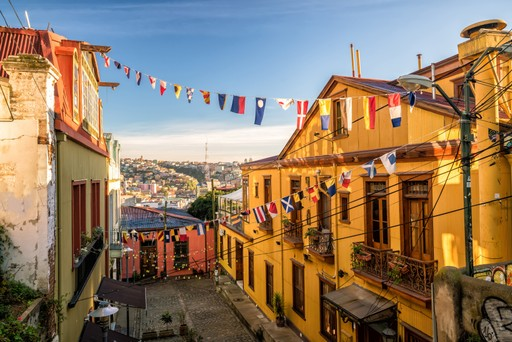 The streets of Valparaiso, Chile