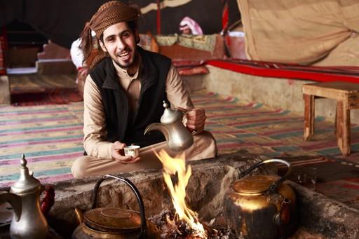 Inside a Bedouin tent, Jordan