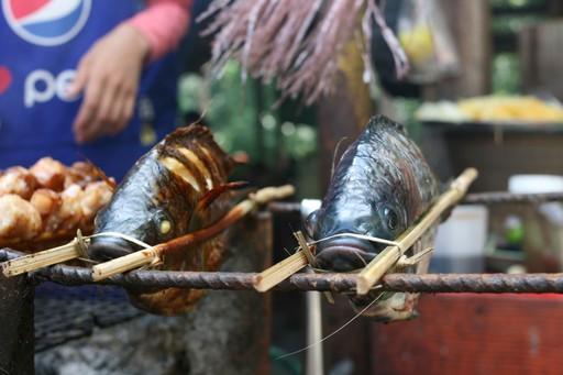 Fish street food, Luang Prabang, Laos