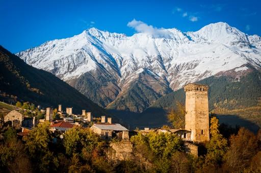 Mountain village in Svaneti, Georgia