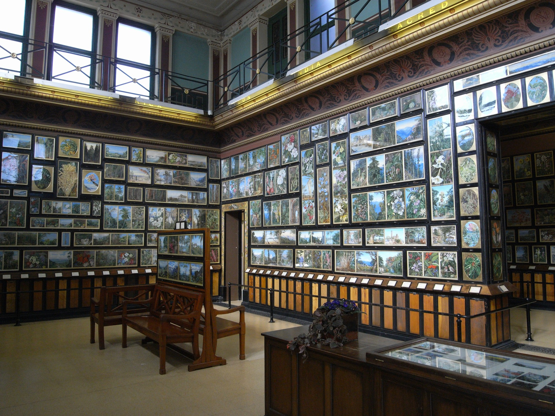 The Marianne North Gallery interior, Kew Gardens