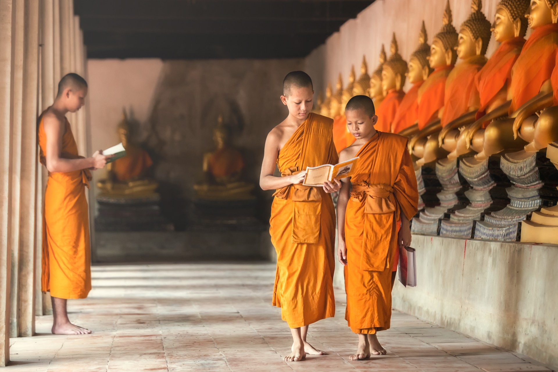 Young monks in Laos