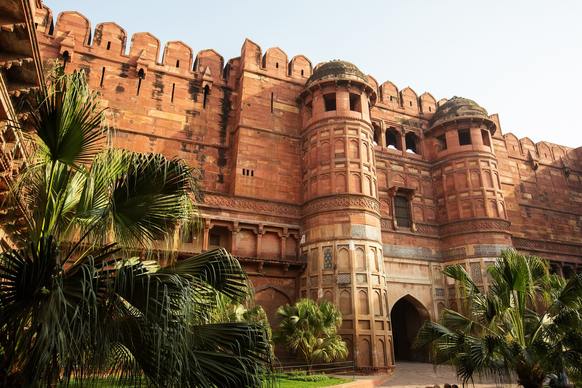 Gate of the Red Fort in Agra