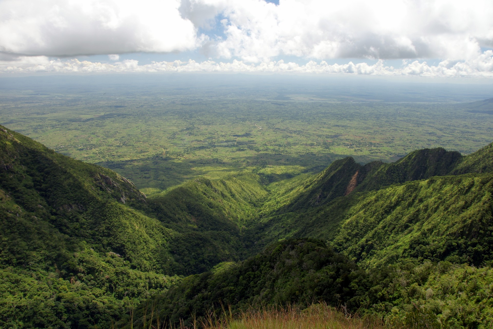 View from the Zomba Plateau in Malawi