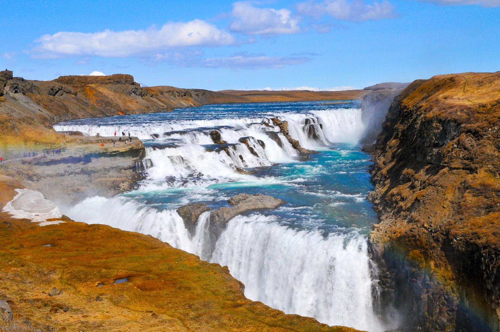 Gullfoss in the sunshine, Iceland