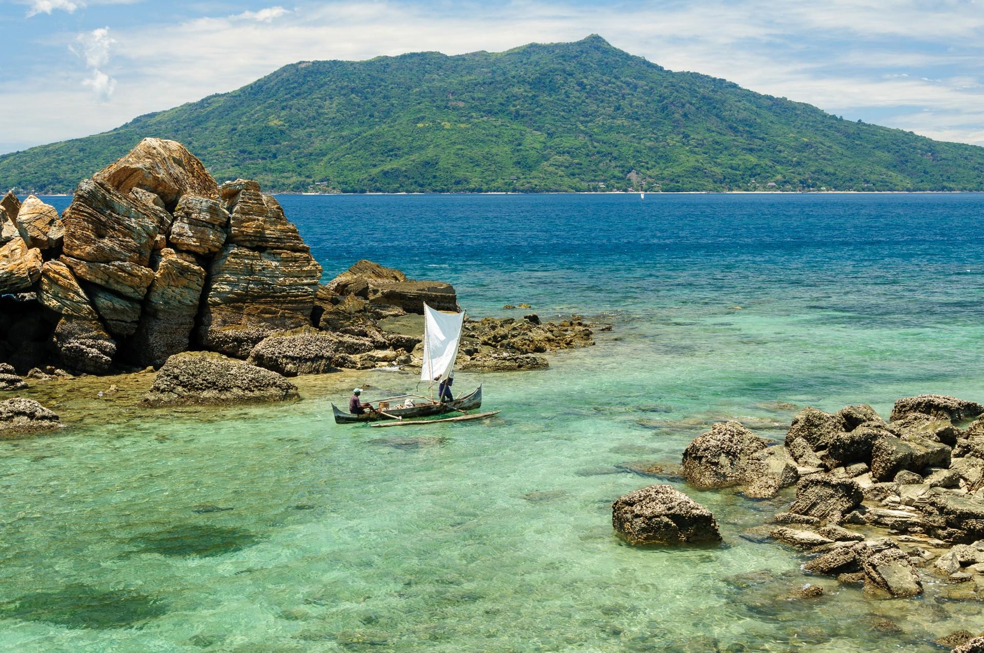 pirogue off coast of Ile Sainte Marie, Madagascar