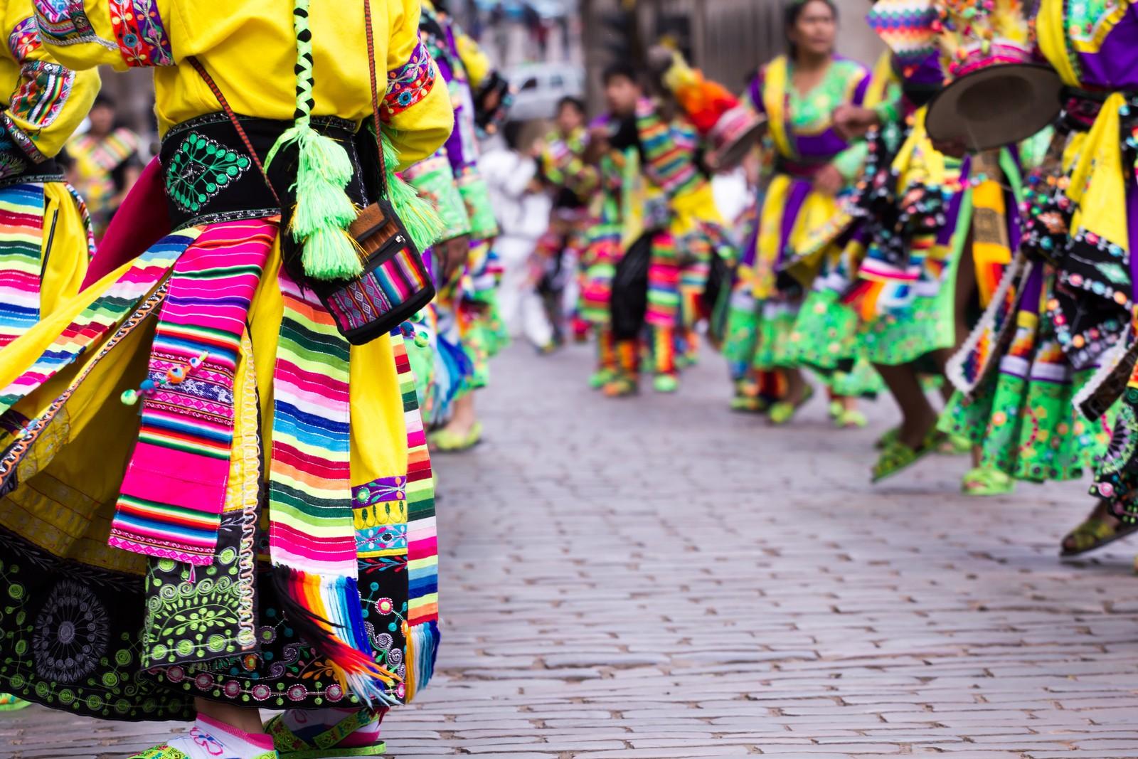Dancing parade Cusco Inti Raymi Festival