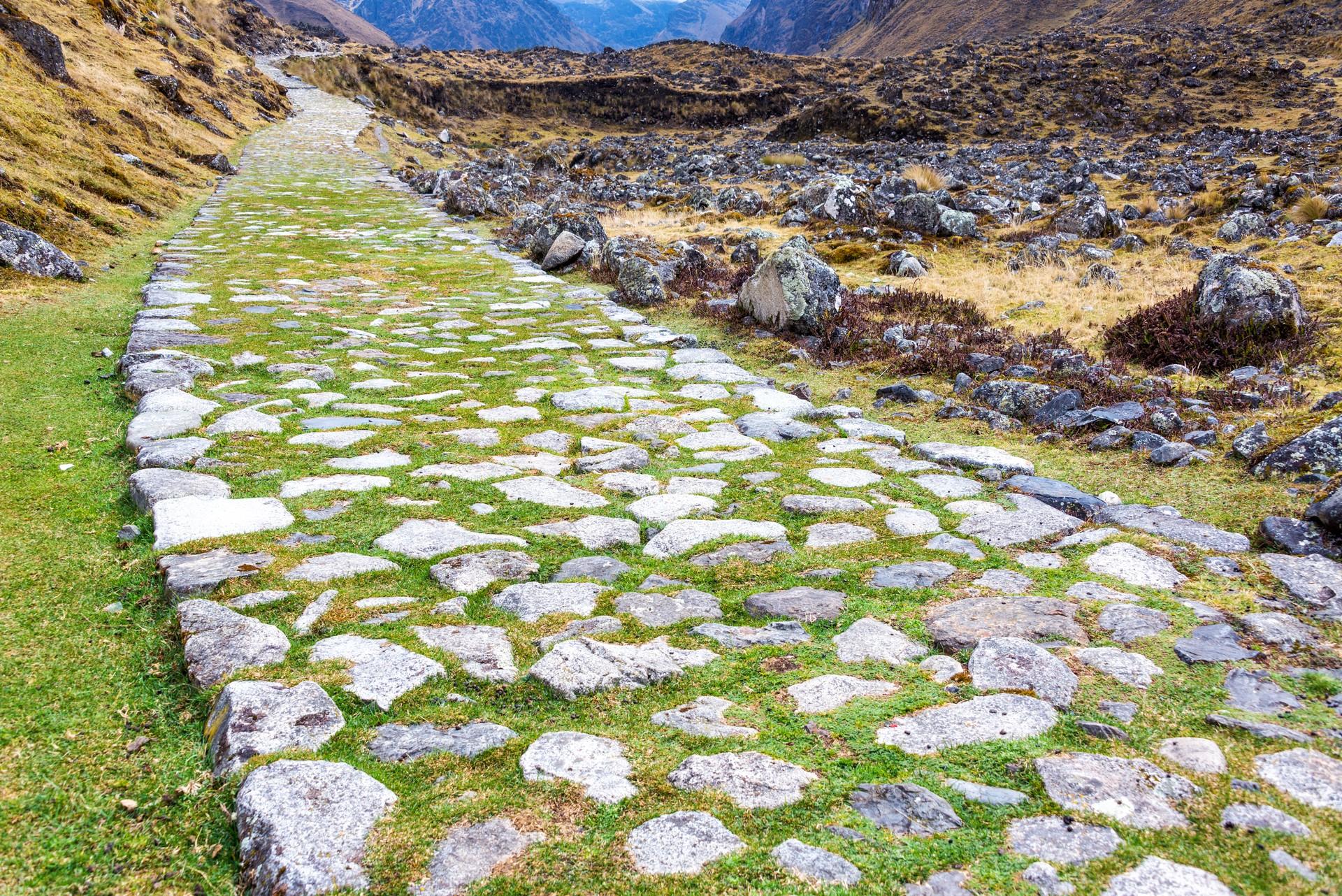 Ancient Qhapaq Nan trail in Bolivia, South America
