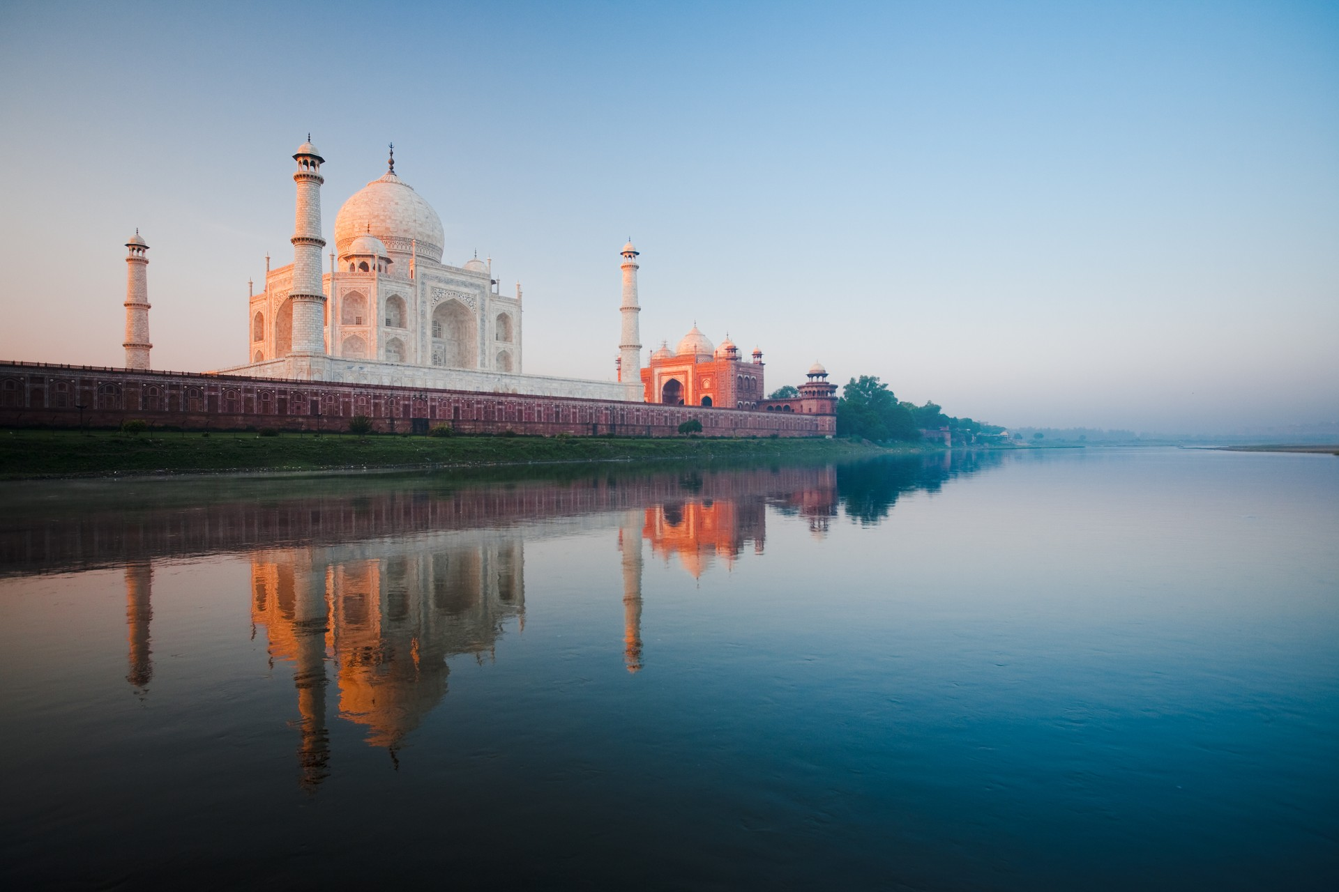 Taj Mahal from the water