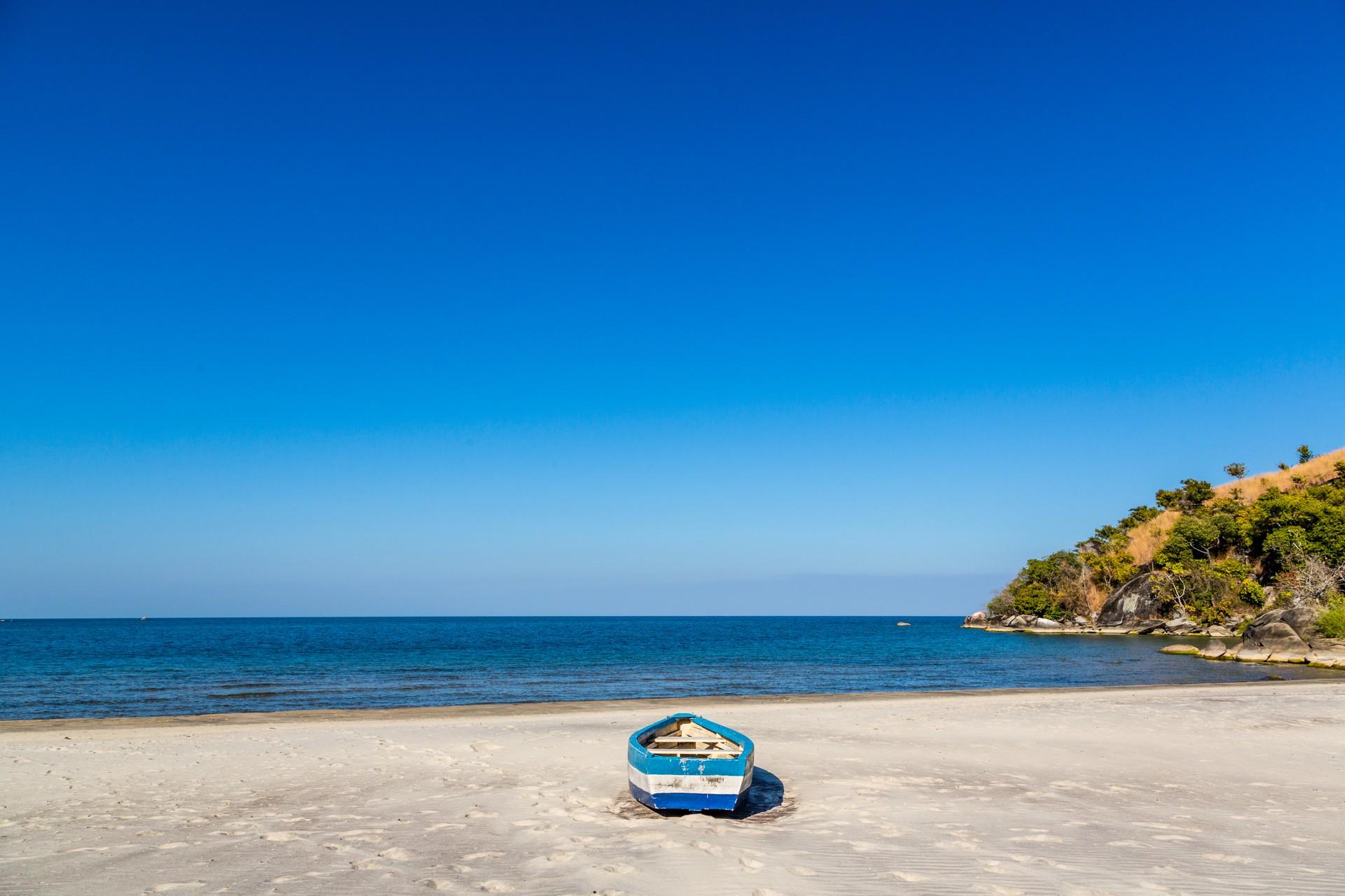Boat on the shore of Lake Malawi