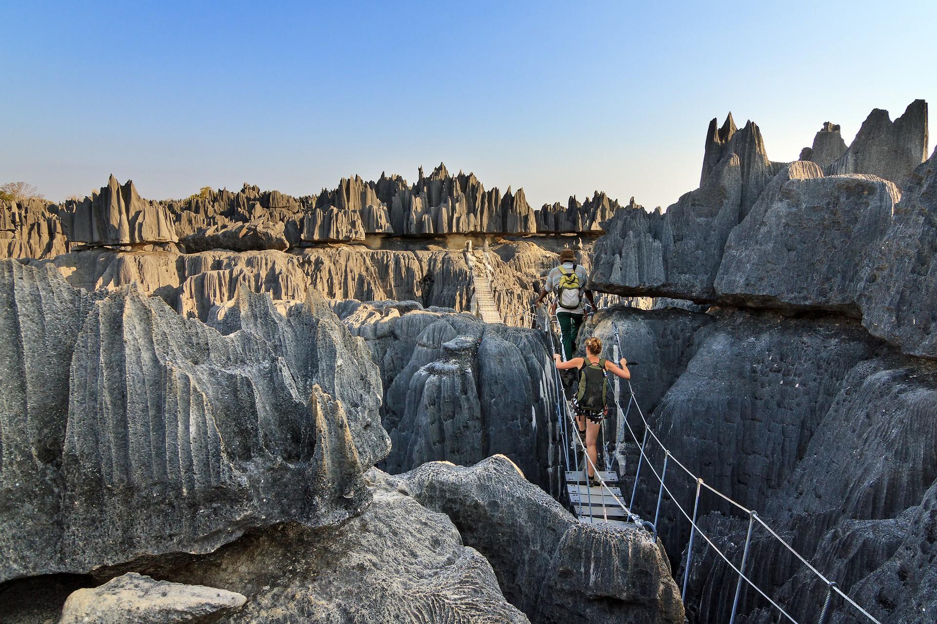 Tsingy de Bemaraha bridge