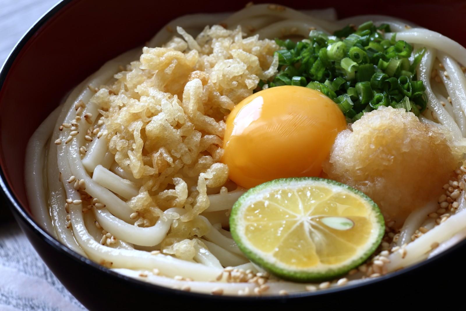 Hiyashi Tanuki Udon noodles