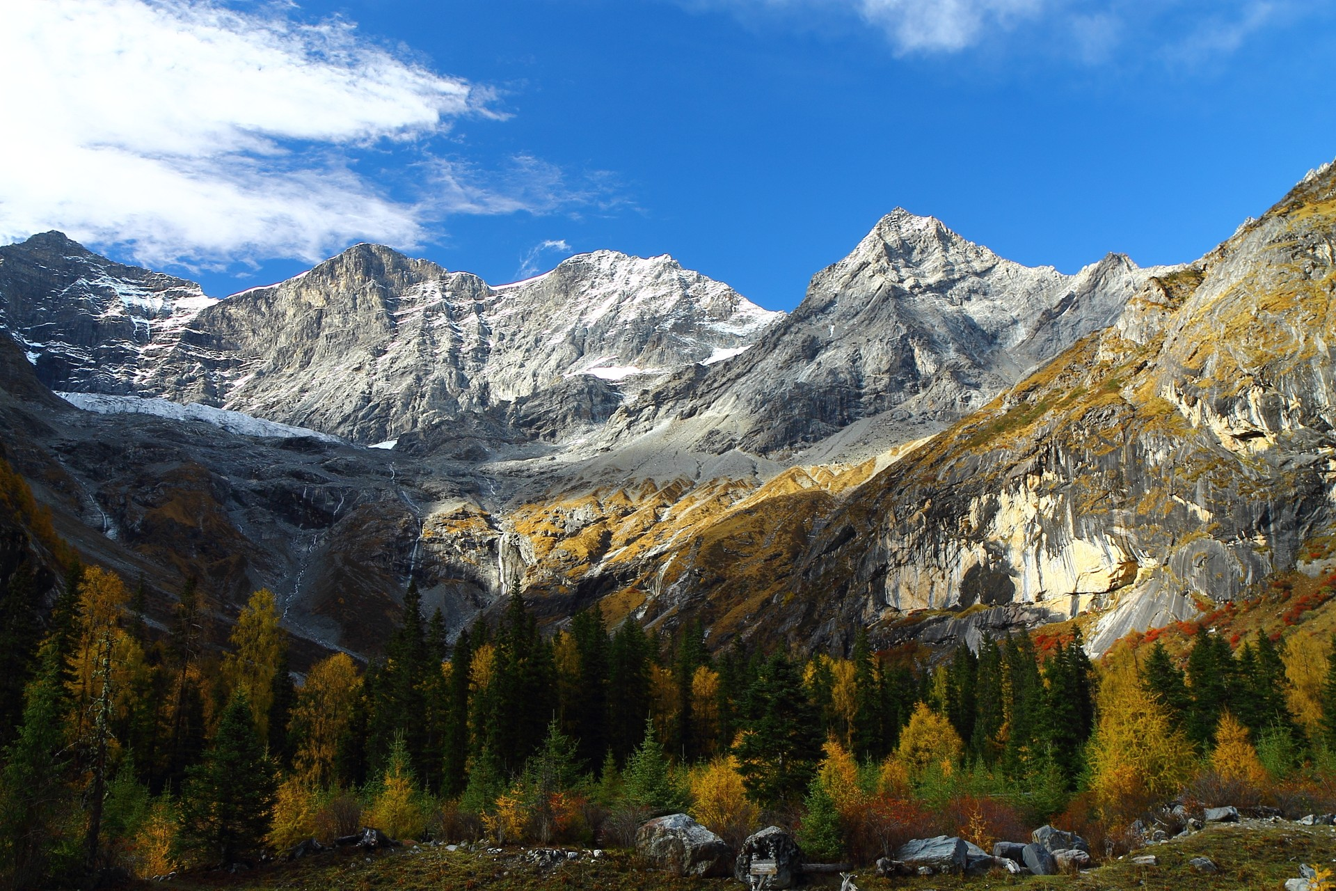 China's Siguniangsghan National Park in autumn