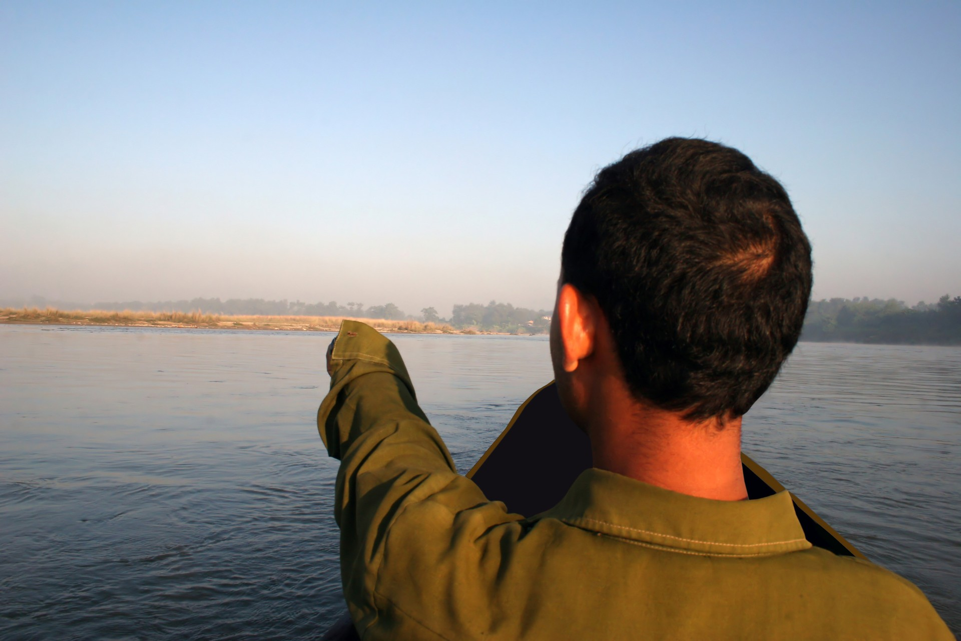 Local guide in Chitwan National Park, Nepal