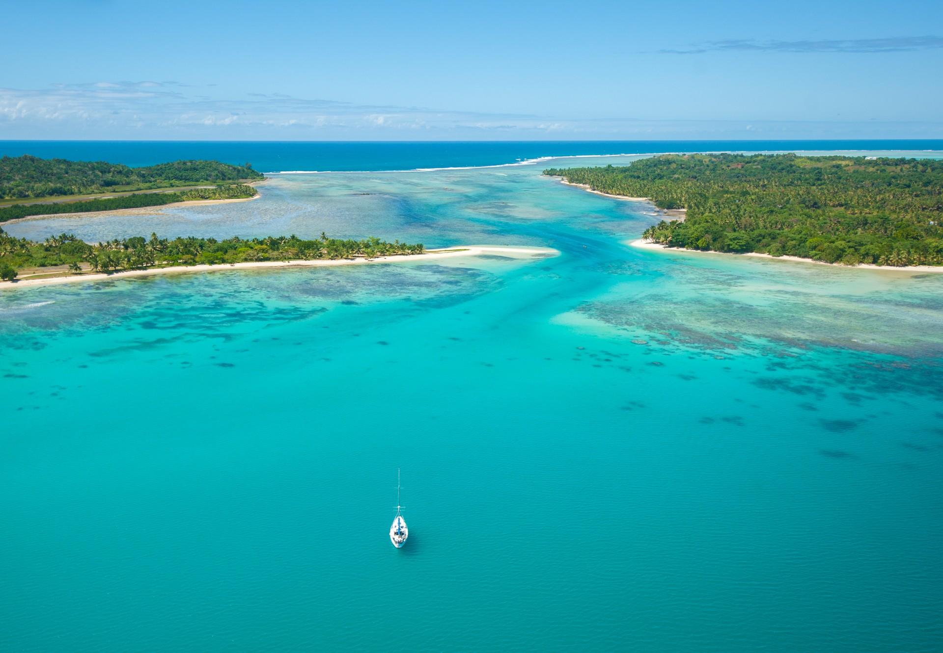 Ile Sainte Marie Madagascar aerial view
